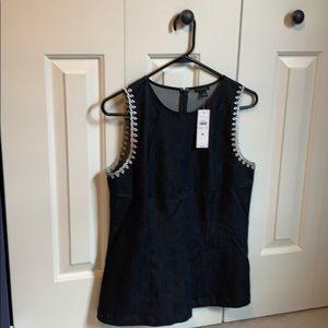 Ann Taylor Dark chambray sleeveless top